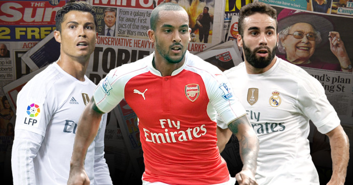 Cristiano Ronaldo, Theo Walcott and Dani Carvajal linked with moves