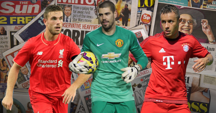 Jordan Henderson, Victor Valdes and Rafinha among Saturday's transfer gossip