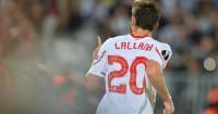 Adam Lallana: Celebrates scoring for Liverpool against Bordeaux