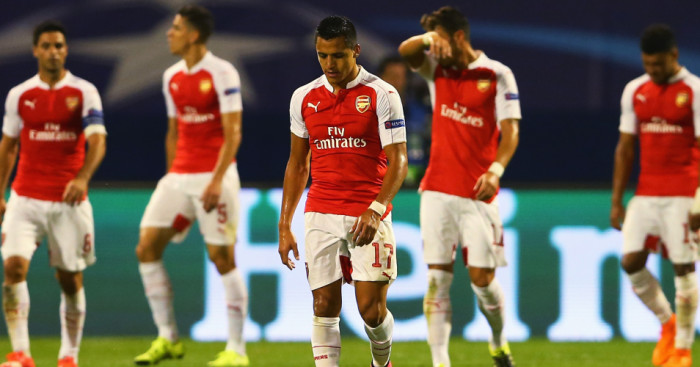 Alexis Sanchez Arsenal Dinamo Zagreb TEAMtalk