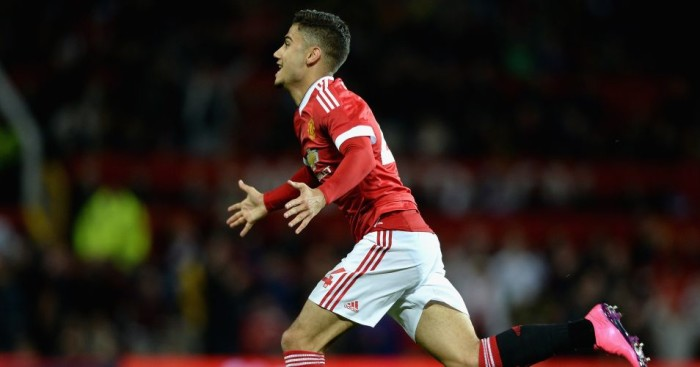 Andreas Pereira: Celebrates scoring for Manchester United against Ipswich