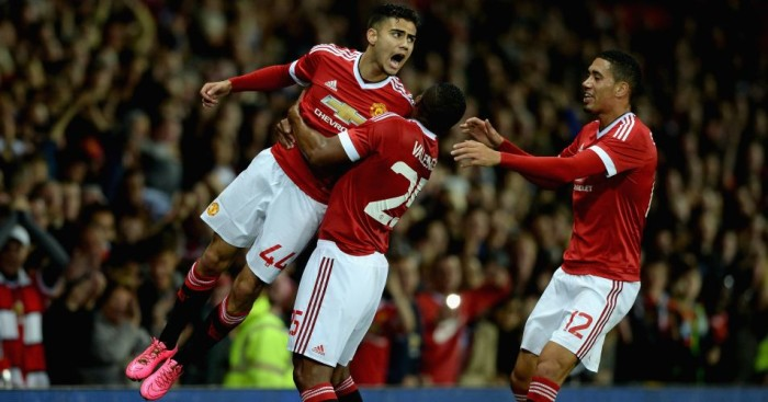 Andreas Pereira: Celebrates scoring for Manchester United in Capital One Cup win over Ipswich