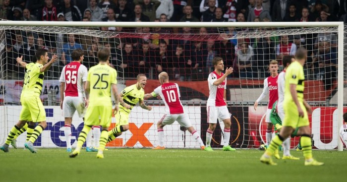 Celtic: Celebrate scoring against Ajax in Europa League draw