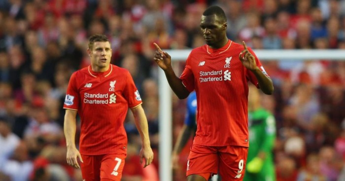 Christian Benteke: Could return for Liverpool at Everton