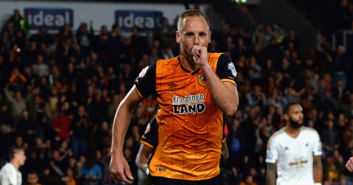 David Meyler: Celebrates Hull's winner against Swansea
