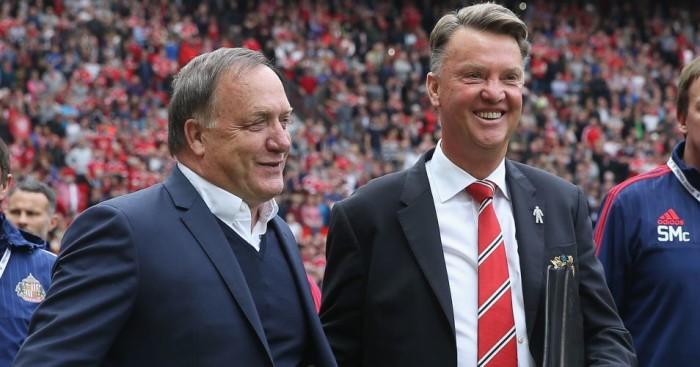 Dick Advocaat Louis van Gaal Manchester United v Sunderland TEAMtalk