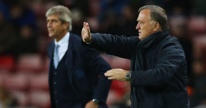 Dick Advocaat: Pleased with parts of Sunderland's performance against Manchester City