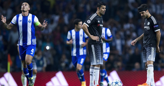 Diego Costa & Cesc Fabregas: Couldn't halt Chelsea slipping to defeat at FC Porto