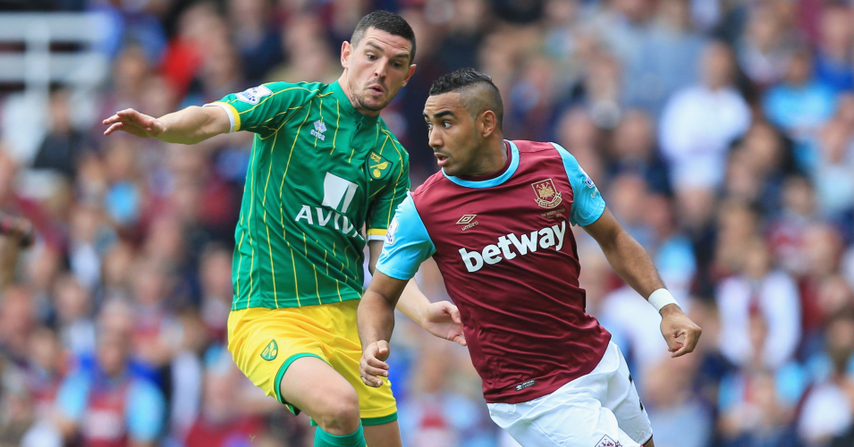 Dimitri Payet: West Ham playmaker battles with Norwich's Graham Dorrans