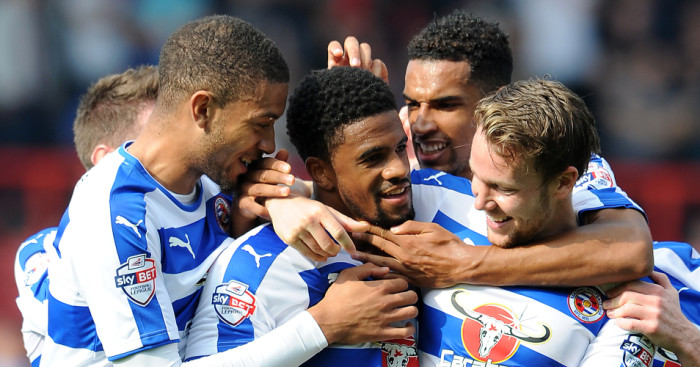 Garath McCleary: Celebrates his goal for Reading