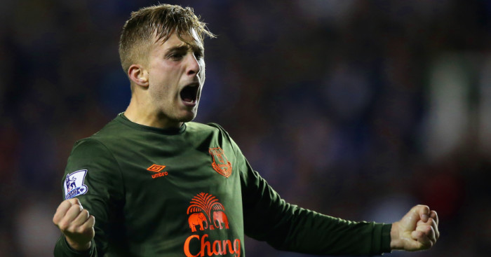 Gerard Deulofeu: Celebrates his winning goal for Everton at Reading