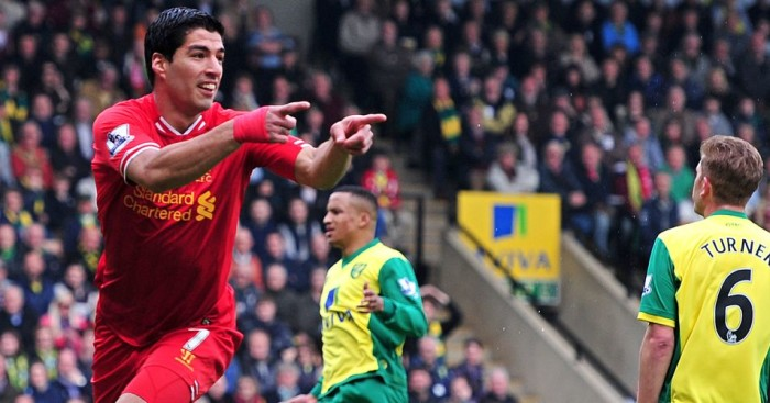 Luis Suarez: Was a constant menace against Norwich for Liverpool