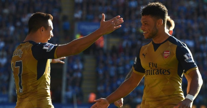 Alex Oxlade-Chamberlain (r): Wants to learn from team-mate Alexis Sanchez (l)