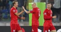 Jonjo Shelvey (centre): Set up England's fifth goal for Harry Kane