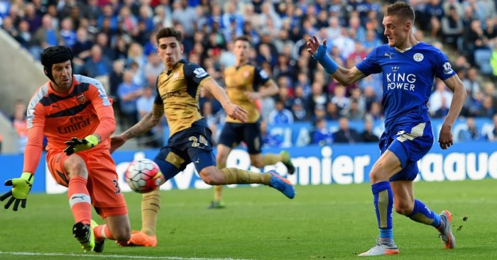 Jamie Vardy: Scored twice for Leicester, but would rather have the points