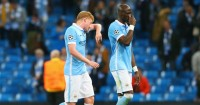 Kevin De Bruyne and Eliaquim Mangala: Look dejected during Man City's defeat to Juventus