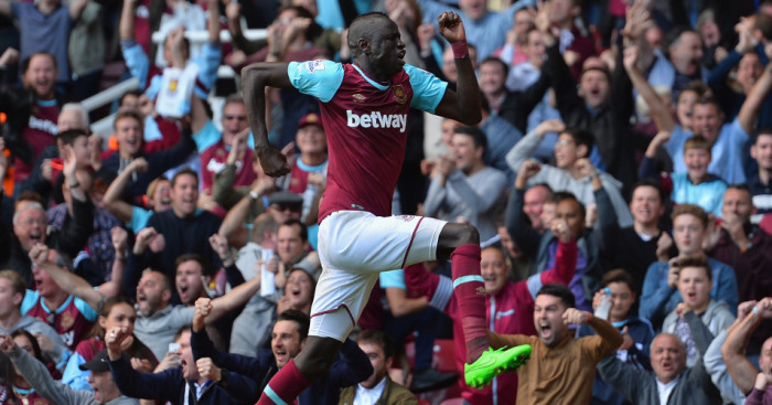 Cheikhou Kouyate: Celebrates West Ham's equaliser against Norwich