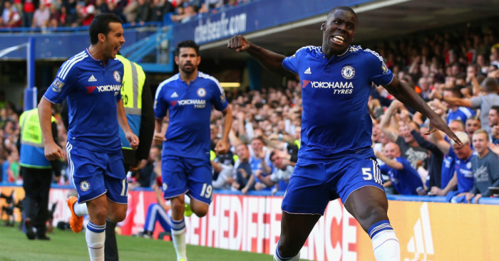 Kurt Zouma: Celebrates his headed winner
