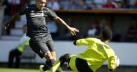 Lawrence Vigouroux Roberto Firmino Swindon v Liverpool TEAMtalk