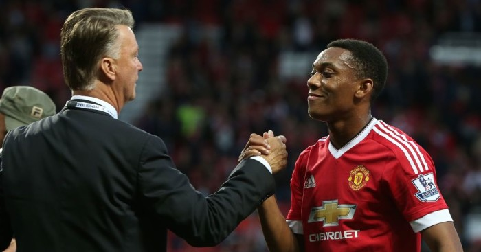 Louis van Gaal: Congratulates Anthony Martial after debut goal for Manchester United