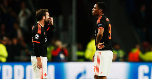 Juan Mata and Anthony Martial: Look on in Eindhoven
