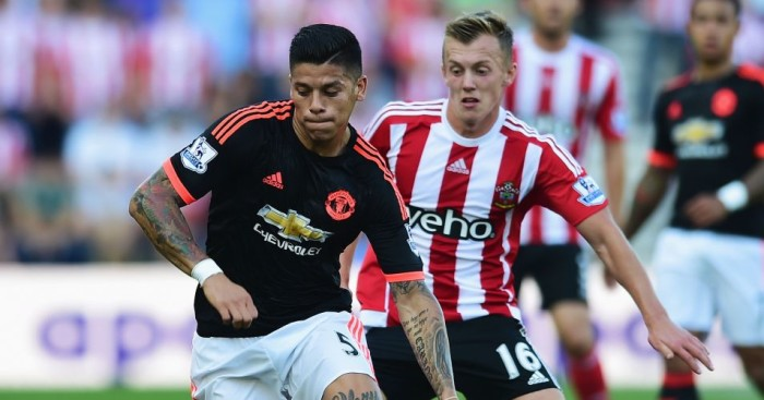 Marcos Rojo: Sustained hamstring injury in Manchester United's win at Southampton