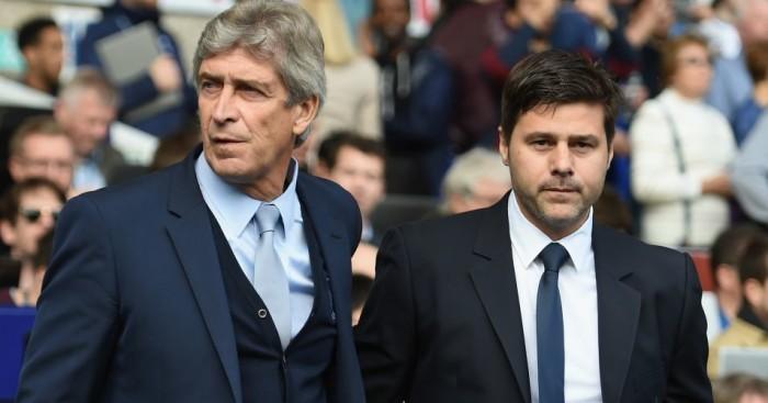Mauricio Pochettino Manuel Pellegrini Tottenham v Manchester City TEAMtalk
