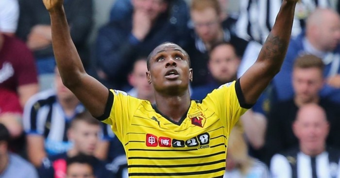Odion Ighalo: Celebrates his first goal at St James' Park