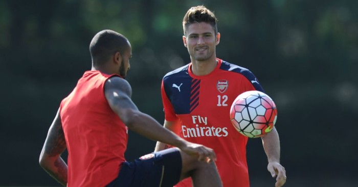 Olivier Giroud and Theo Walcott: Competing for strike berth at Arsenal