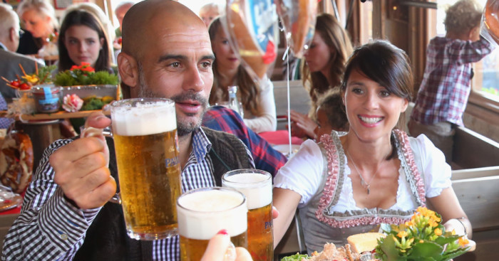 Pep Guardiola: Bayern Munich boss enjoys Oktoberfest