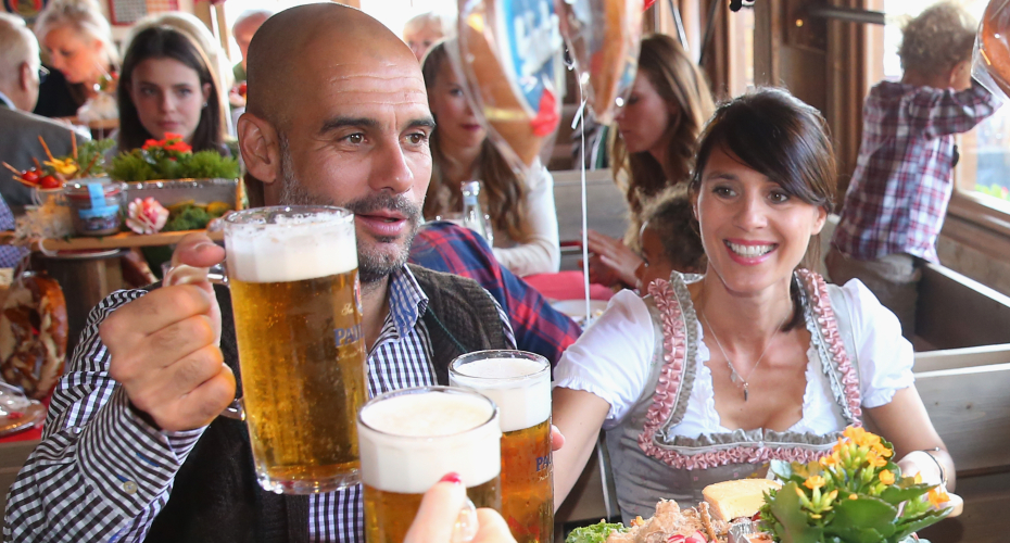 Pep Guardiola: Bayern Munich boss enjoys Oktoberfest