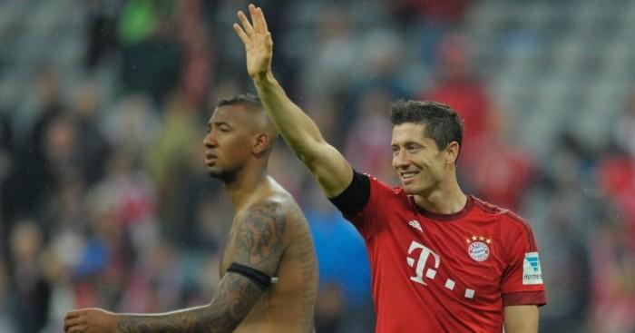 Robert Lewandowski: Bayern Munich striker celebrates scoring five goals in nine minutes