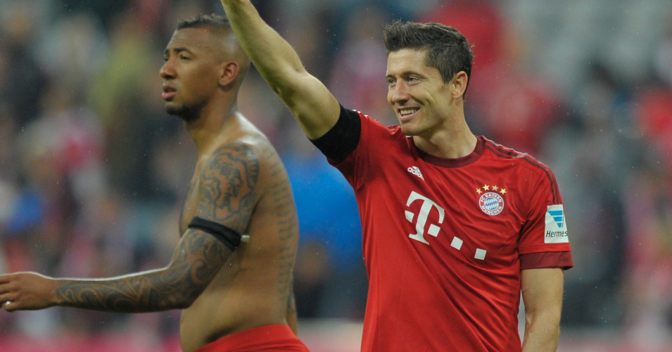 Robert Lewandowski: Scored five times for Bayern Munich against Wolfsburg