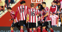 Sadio Mane: Celebrates Southampton's third goal against Swansea