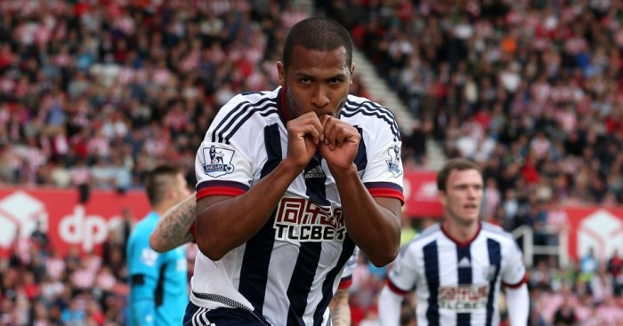Salomon Rondon: Celebrates his only goal for West Brom so far at Stoke City