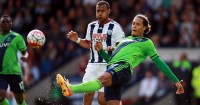 Salomon Rondon Virgil van Dijk West Brom v Southampton