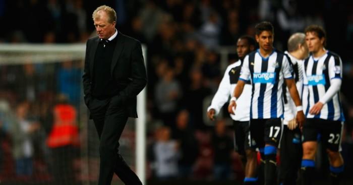 Steve McClaren: Newcastle boss looking dejected after defeat at West Ham