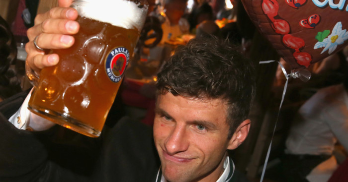 Thomas Muller: Enjoys Oktoberfest 2015