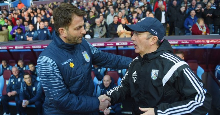 Tim Sherwood and Tony Pulis: Aston Villa host West Brom again on Saturday