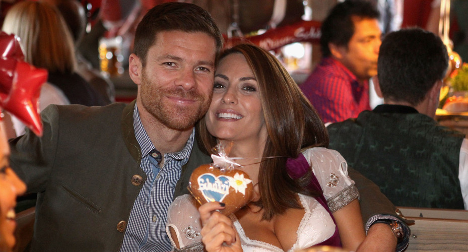 Xabi Alonso: Enjoys Oktoberfest with his wife Nagore Aramburo