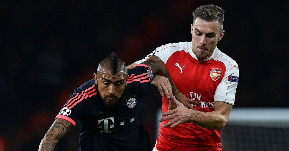 Aaron Ramsey: Keeps a close eye on Arturo Vidal