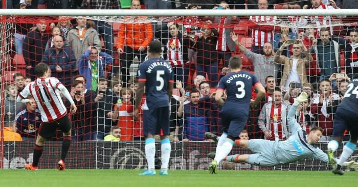 Adam Johnson: Converts Sunderland's penalty against Newcastle