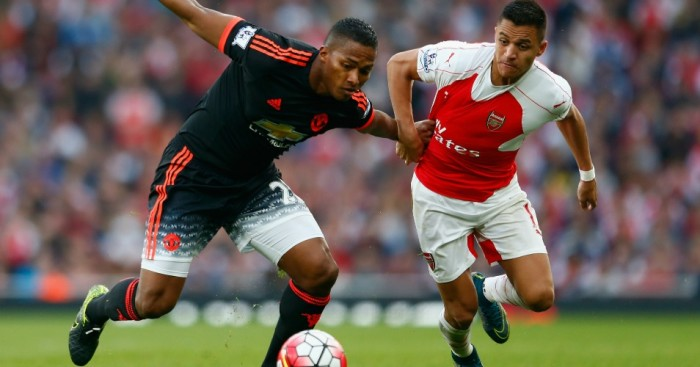 Alexis Sanchez Antonio Valencia Arsenal v Manchester United TEAMtalk