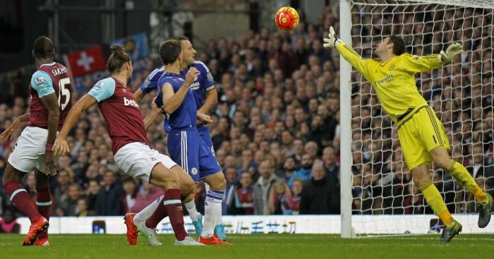 Andy Carroll scores West Ham v Chelsea TEAMtalk