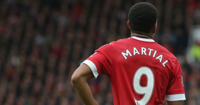 Anthony Martial: Again started on the left for Manchester United
