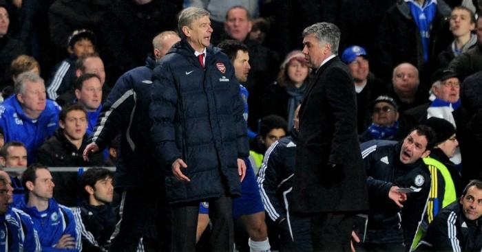 Arsene Wenger (l): Not set for the sack, says Ancelotti (r)