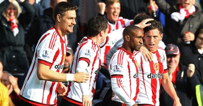 Billy Jones (right): Scored in Sunderland's win over Newcastle