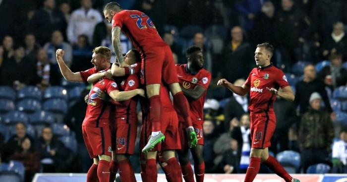 Blackburn: Celebrate Craig Conway's goal at Leeds