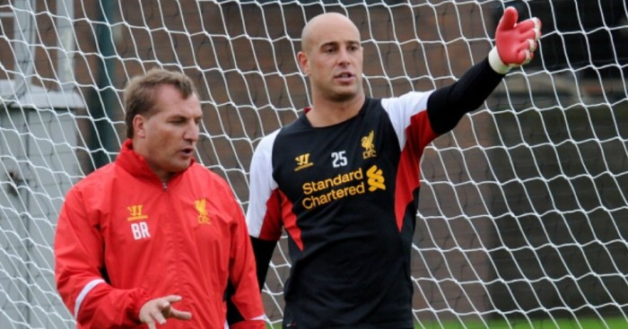 Brendan Rodgers and Jose Reina: Endured a difficult relationship at Liverpool