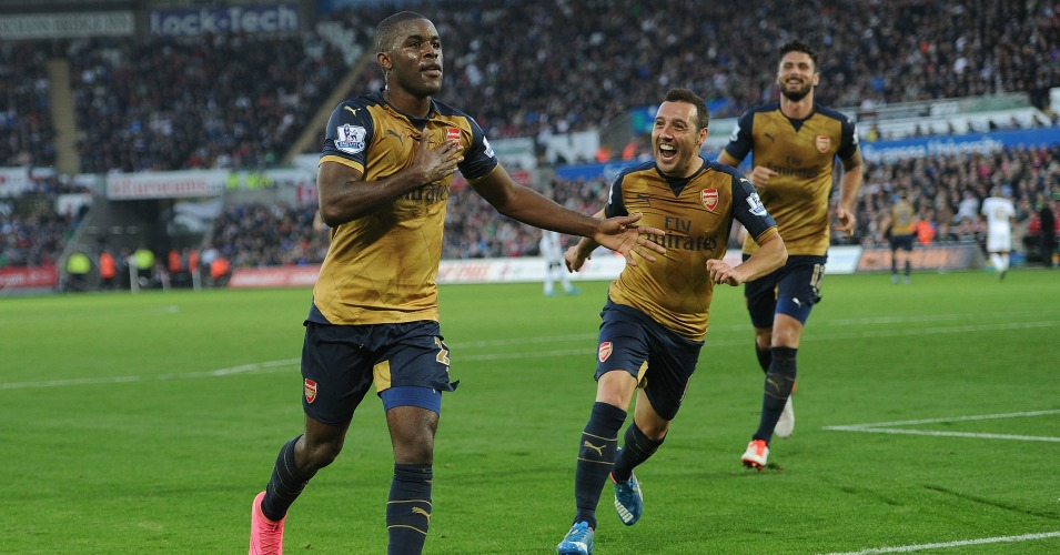 Joel Campbell: Forward notched his first goal for Arsenal